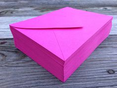 50 A7 or 4Bar Envelopes Pink Fuchsia Hot Pink Paper by SEEDInvites