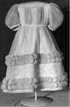 KEYWORDS / TITLE  Children dress, cotton m vitbroderi  BRIEF DESCRIPTION  Kids Dress for Princess Eugenie (born 1830).  NAME  Owner :Eugenia of Sweden  DATING  1830's  OTHER KEYWORDS  dress  COLLECTION OF THE  Royal Armoury  INVENTORY NUMBER  31414 (06:5723)