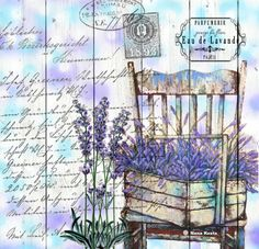 Love this image with old letter and lavender Decoupage Vintage, Decoupage Paper, Vintage Ephemera, Vintage Paper, Vintage Pictures, Vintage Images, Decoupage Printables, Collage Techniques, Pintura Country
