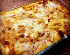 Polenta pasticciata con ragù e formaggi misti