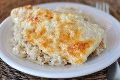 GLUTEN FREE  Swiss Cheese Chicken Bake! I'm so excited to try this recipe. I've made the southwest chicken and rice salad from Mel's site and its fabulous!