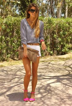 Zarazara  Shirt / Blouses, H  Shorts and Zarazara  Flats