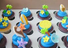 beach cupcakes - Google Search