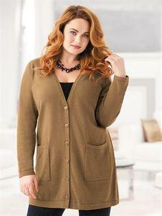 Oversized Cardigan Sweater | Plus Size Cardigans | OneStopPlus  -  long cardigan sweater, jacket.        lj