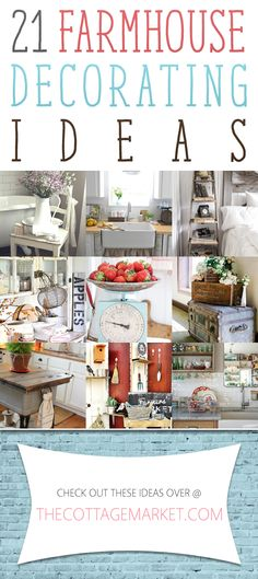 21 Farmhouse Decorating Ideas - The Cottage Market