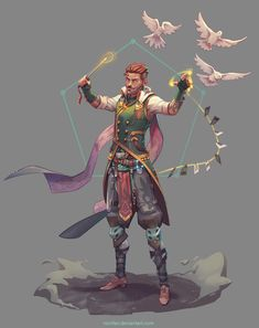 ArtStation - Gwydion Othello (Magister), Nico Fari - My best design list Fantasy Character Design, Character Creation, Character Design Inspiration, Character Concept, Character Art, Concept Art, Dungeons And Dragons Characters, Dnd Characters, Fantasy Characters