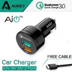 9.90$ (Buy here: http://alipromo.com/redirect/product/olggsvsyvirrjo72hvdqvl2ak2td7iz7/32598913633/en ) AUKEY For Qualcomm Quick Charger 3.0 9V 12V 2 Port Mini USB Car Charger for iPhone 7 6s iPad Samsung HTC Xiaomi QC2.0 Compatible for just 9.90$