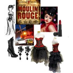 """""""le petit moulin rouge"""" by airyinlove on Polyvore  This is great if you wanted to go all out"""