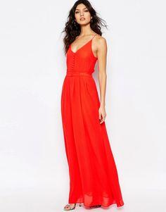 Y.A.S Flawless Maxi Dress in Poppy Red