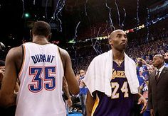 Kobe Bryant and the Lakers were eliminated by Kevin Durant and the Thunder in five games.  Jordan to Kobe.  Kobe to Durant?  #2012NBAPlayoffs