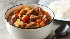 Beef stew is a traditional dish in Puerto Rican cuisine, and it's usually served with a side of white rice or rice with beans. It was one of my favorite childhood dishes, and one of the first recipes I learned to cook at the age of 13 when I wanted to help my mom make dinner. You may already be familiar with this stew as it is very popular in Latin culture.