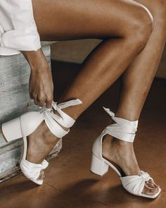 18 Beach Wedding Shoes That Inspire ❤ beach wedding shoes white simple with low heels foreversoles #weddingforward #wedding #bride Beach Wedding Shoes, White Wedding Shoes, Wedding Bride, Wedding Dresses, Bare Foot Sandals, Low Heels, Barefoot, Slippers, Dance Shoes