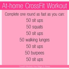Can't make it to the gym? Do a CrossFit workout at your house! Or anywhere you�