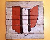 Cleveland Browns Sign / State of Ohio Wall Hanging