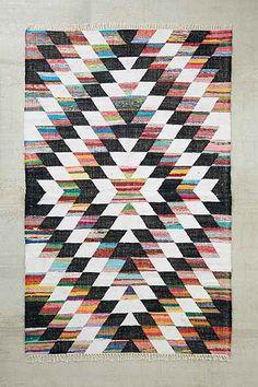 Woven Diamond Kilim Rag Rug - Urban Outfitters