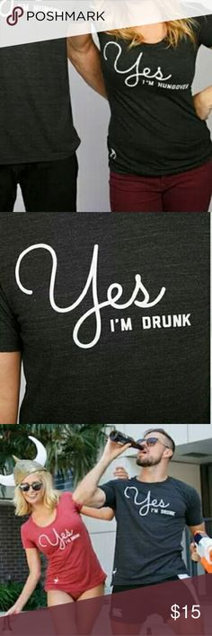 CHIVE TEES MEDIUM YES I'M DRUNK T SHIRT CUTE BLACK YES I'M DRUNK T SHIRT MEDIUM CREW FUNNY MADE IN USA COMFY CUTE Urban outfitters Urban Outfitters Tops Tees - Short Sleeve