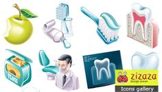 Icon set - Dentist - Zizaza item for free