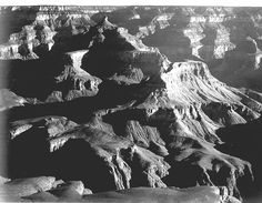 """""""Grand Canyon National Park"""" by Ansel Adams ~ GRAND CANYON NATIONAL PARK, ARIZONA ~ In 1941 the National Park Service commissioned noted photographer Ansel Adams to create a photo mural for the Department of the Interior Building in Washington, DC. The theme was to be nature as exemplified and protected in the U.S. National Parks."""