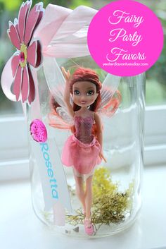Love this for Lakota too! For a little girls birthday party. Find cheap fairies and trap them in jars as party favors.wish I would have seen this before Aubs Tinkerbell party Fairy Birthday Party, Birthday Parties, Birthday Ideas, Girl Parties, Birthday Wishes, Fairy Party Favors, Park Birthday, Birthday Sayings, Birthday Images