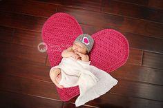 Heart Mat blanket Great Photography Prop Photo by HeartstringsbyK, $40.00