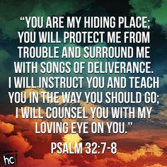 psalm 32:7-8 - Google Search