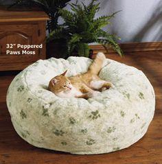 Cat beanbag chair.