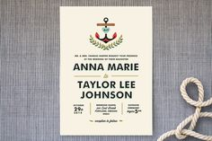 Nautical Campy Love Wedding Invitations by Trista Sydloski-Tesch at minted.com