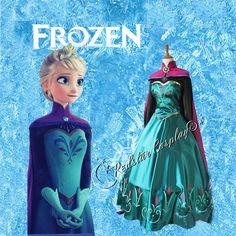 Disney Movies Frozen Snow Queen Elsa adult cosplay costume $109+