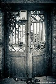 vintage wooden gates