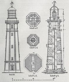 Architecture Drawings, Architecture Design, Theatrical Scenery, Costa, Lighthouse Art, Water Tower, Windmill, Cover Photos, Planer
