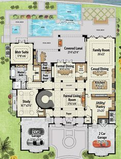 Palatial Manor House Plan - 31827DN   European, Luxury, Photo Gallery, 1st Floor Master Suite, 2nd Floor Master Suite, Butler Walk-in Pantry, CAD Available, Den-Office-Library-Study, Elevator, Media-Game-Home Theater, PDF   Architectural Designs