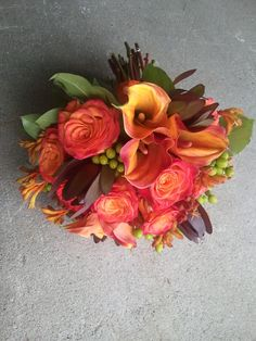 autumn bouquets   fall bridalbouquet2 Fall Wedding Flowers A Recap of This Years ...