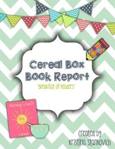 Book Activities For Any Book Cereal Box Summaries Grades