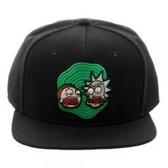 fb261d4e Rick And Morty Portal Adult Swim Cartoon Bioworld Snapback Hat Adjustable  Cap