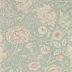 Double Bough wallpaper, in colour Teal Rose, from Morris & Co's Melsetter collection. Featuring 10 beautiful wallpapers, Melsetter shares May Morris' Teal Rose Wallpaper, Antique Wallpaper, Trellis Wallpaper, Print Wallpaper, Home Wallpaper, Fabric Wallpaper, Wallpaper Roll, Beautiful Wallpaper, William Morris Wallpaper