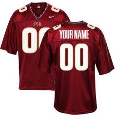 Nike Florida State Seminoles (FSU) Custom Replica Football Jersey - Garnet