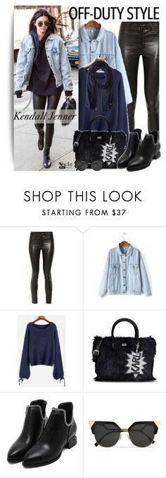 """""""Kendall Jenner"""" by oshint ❤ liked on Polyvore featuring J Brand, Karl Lagerfeld, Fendi and Cole Haan"""