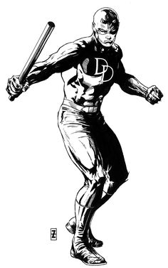 Daredevil variant inks by Patrick Zircher Marvel Comic Universe, Comics Universe, Marvel Art, Daredevil Artwork, Daredevil Elektra, Comic Book Characters, Marvel Characters, Comic Books Art, Ornstein Dark Souls