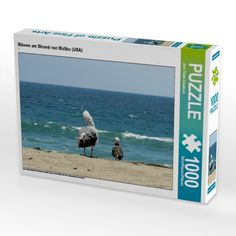 Möwen am Strand von Malibu (USA) (Foto-Puzzle)