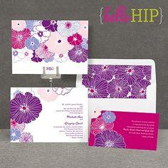 Hip Blossoms - Berry - Invitation
