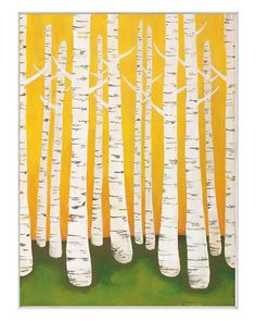 "McGaw Graphics ""Autumn Birches"" by Lisa Congdon"