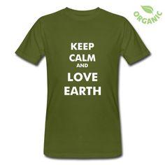 "T-shirt uomo ""Keep Calm and Love Earth"""