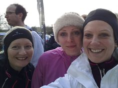 Just before the Longman 10K cross country with my girls Carol and Rebecca. Winter 2014