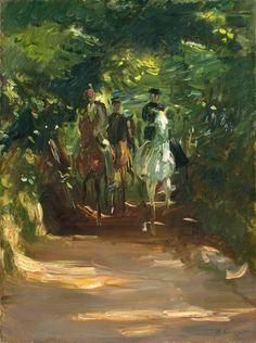 Max Slevogt - Reitergruppe im Wald (1902)