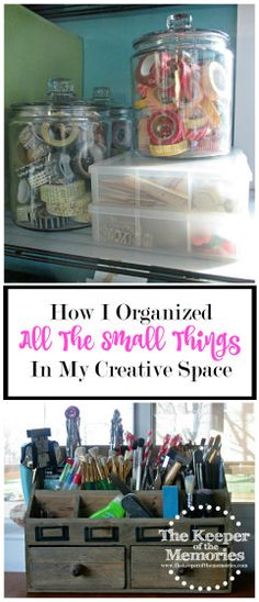 This week, I thought it would be fun to talk about how I organize all the small things in my creative space. So let's take a tour inside all of the many baskets and bins I've collected over the years and see what's where at the moment. #organizing