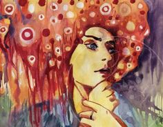 """Check out new work on my @Behance portfolio: """"woman red"""" http://on.be.net/1ibDKAf"""
