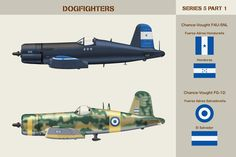 Dogfighters Series 5 Part 1 by WS-Clave. Honduras, Ww2 Planes, Central America, World War Two, Air Force, Fighter Jets, F4u Corsair, Aircraft, Military