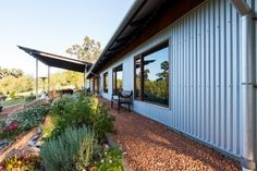 gravel used for pathing. solar-passive-home-house-Perth-Australian-design-eco-friendly-shed-house-country-House-Nerd-Perth-design Passive Solar Homes, Passive House, Shed House Plans, Casas Containers, House Ideas, Solar House, Shed Homes, Australian Homes, Australian Sheds