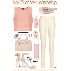 """My Summer Internship"" by mariafernandes96 on Polyvore"