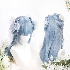 23 Long Ombre Hair Ideas Blowing Up in 2019 - Style My Hairs Kawaii Hairstyles, Pretty Hairstyles, Wig Hairstyles, Straight Hairstyles, Anime Wigs, Anime Hair, Kawaii Wigs, Long Thin Hair, Black Curly Hair